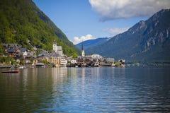 Hallstatt. The beautiful town of Hallstatt in Austria Stock Image