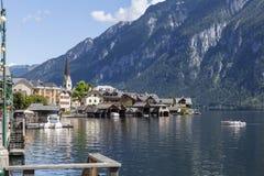 Hallstatt. The beautiful town of Hallstatt in Austria Stock Photo