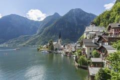 Hallstatt. The beautiful town of Hallstatt in Austria Stock Photos