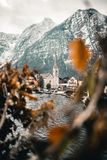 Hallstatt bell tower stock photo