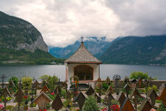 Hallstatt cemetery Royalty Free Stock Photo