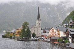 Hallstatt church Stock Photos