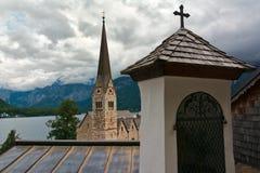 Hallstatt church Royalty Free Stock Images