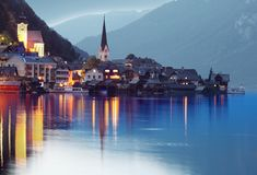 The Hallstatt City. royalty free stock photos