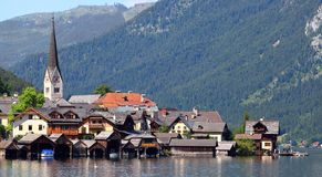 The Hallstatt City. Royalty Free Stock Images