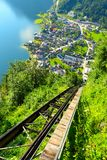 The Hallstatt City. stock photo