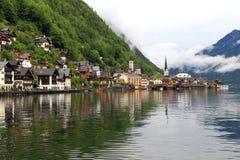 Hallstatt, de mooiste meerstad in de wereld, Oostenrijk. Stock Afbeeldingen