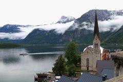 Hallstatt, de mooiste meerstad in de wereld, Oostenrijk. Stock Foto's