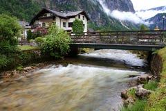 Hallstatt, de mooiste meerstad in de wereld, Oostenrijk. Stock Afbeelding