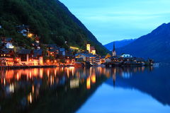 Hallstatt, de mooiste meerstad in de wereld, Oostenrijk. Royalty-vrije Stock Foto