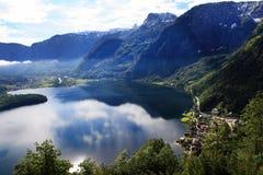 Hallstatt, de mooiste meerstad in de wereld, Oostenrijk. Royalty-vrije Stock Afbeeldingen