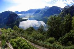 Hallstatt, de mooiste meerstad in de wereld, Oostenrijk. Royalty-vrije Stock Fotografie