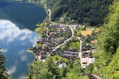 Hallstatt, de mooiste meerstad in de wereld, Oostenrijk. Royalty-vrije Stock Afbeelding