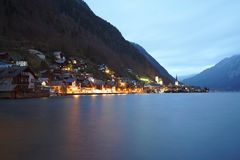 Hallstatt-Dorf Österreich lizenzfreie stockfotografie