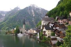 Hallstatt, ein Dorf in Österreich Stockfotografie