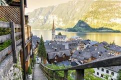 Hallstatt en Autriche, l'Europe Photographie stock libre de droits
