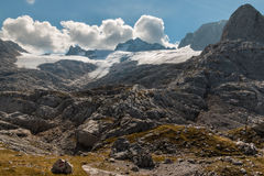 Hallstatt-Gletscher in Alpen Hoher Dachstein, Österreich Lizenzfreies Stockbild