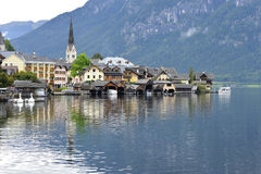 Hallstatt on a Gloomy Day Stock Photography