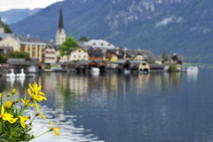 Hallstatt on a Gloomy Day Stock Photos