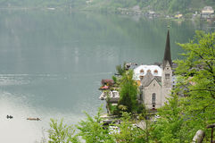 Hallstatt and Hallstatter Zee lake Stock Photos
