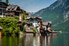 Hallstatt. houses. Stock Images