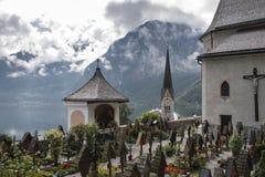 Hallstatt, igreja evangélica, Fotos de Stock Royalty Free