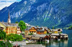 Free Hallstatt In Mountains Alps Austria Scenic Landscape Stock Photos - 107501283