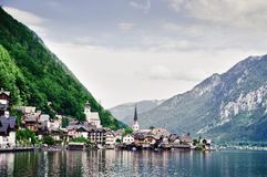 Hallstatt with Lake Stock Images
