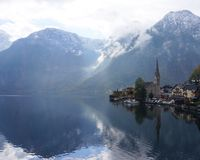 Hallstatt lake. Austria Royalty Free Stock Photos