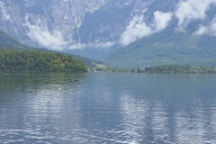 Hallstatt Lake on a Gloomy Day Stock Image