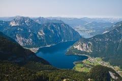 Hallstatt. Lake and town of Hallstatt, Austria Royalty Free Stock Images