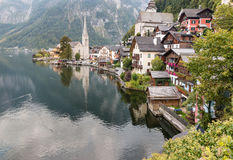 Hallstatt lake and village in Salzkammergut, Austria Royalty Free Stock Photography