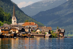 Hallstatt lakeside Royalty Free Stock Image