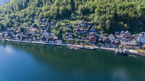 Hallstatt, luftaufnahme, Aerial view, Alps Royalty Free Stock Images