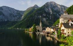 Hallstatt in the morning, Austria. Hallstatt, heritage village of Austria in spring royalty free stock image
