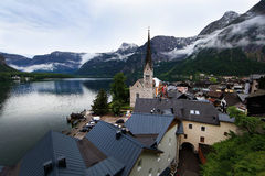Hallstatt, the most beautiful lake town in the world, Austria. Hallstatt, the most beautiful lake town in the world stock photos