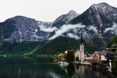 Hallstatt, the most beautiful lake town in the world, Austria. Hallstatt, the most beautiful lake town in the world royalty free stock photography