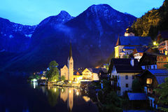 Hallstatt, the most beautiful lake town in the world, Austria. Hallstatt, the most beautiful lake town in the world stock photo