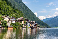 Hallstatt mountain village at Hallstattersee lake in the Austria Royalty Free Stock Images
