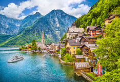 Hallstatt mountain village, Salzkammergut, Austria Royalty Free Stock Photo