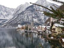 Hallstatt o ` s do mundo a maioria de cidade bonita do lago imagem de stock