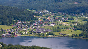 Hallstatt, Obertraun, Austria. View of the Hallstatt, Obertraun, Austria stock photos