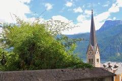 Hallstatt på sjön Hallstatt, Österrike Arkivfoto