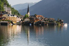Hallstatt reflected Royalty Free Stock Photo