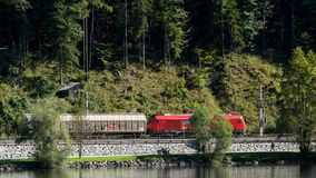 Free HALLSTATT,  SALZKAMMERGUT/AUSTRIA - SEPTEMBER 14 : Cargo Train R Royalty Free Stock Photo - 101159805
