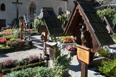 HALLSTATT SALZKAMMERGUT/AUSTRIA - SEPTEMBER 14: Väl hållna Gra Fotografering för Bildbyråer