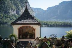 HALLSTATT SALZKAMMERGUT/AUSTRIA - SEPTEMBER 14: Väl hållna Gra Royaltyfri Foto