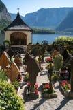 HALLSTATT SALZKAMMERGUT/AUSTRIA - SEPTEMBER 14: Väl hållna Gra Royaltyfria Foton