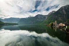 Hallstatt sjö, Österrike Arkivfoto