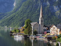Hallstatt - small beautiful pearl of Alps. Stock Image